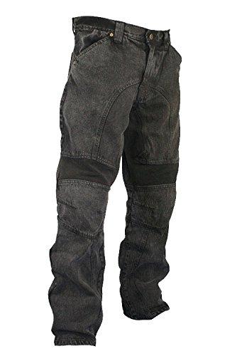 Xelement 055000 Classic Fit Mens Black Stonewash Denim Motorcycle Racing Pants - 36