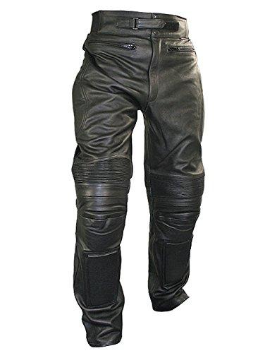 Xelement B7466 Mens Black Armored Cowhide Leather Racing Pants - 40