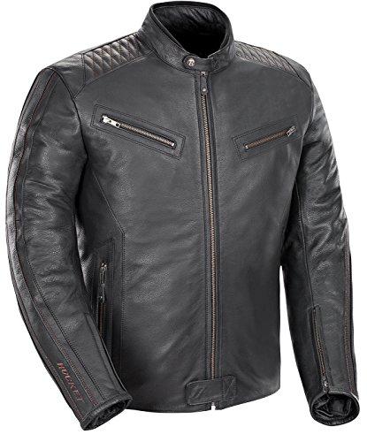 Joe Rocket Vintage Rocket Men's Leather Motorcycle Jacket (black, Large)