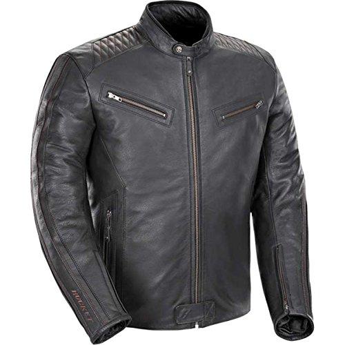 Joe Rocket Vintage Rocket Men's Leather Street Motorcycle Jacket - Black/black / X-large