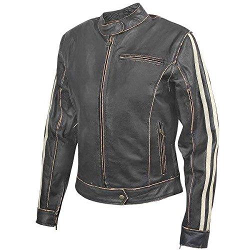 Xelement Bxu-100530 Vintage Womens Dark Brown Leather Jacket - Large