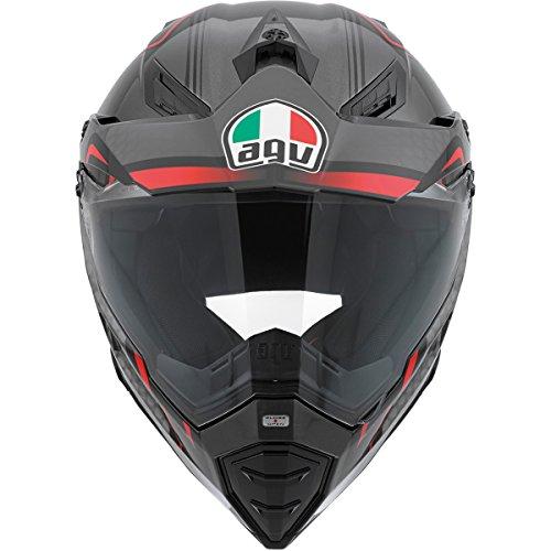Agv Ax-8 Dual Sport Evo Helmet Composite Fiber Gt Gloss Black/red/silver Medium