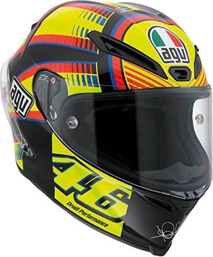 Agv Corsa Soleluna Full Face Motorcycle Helmet (black/yellow/red/blue, Large)
