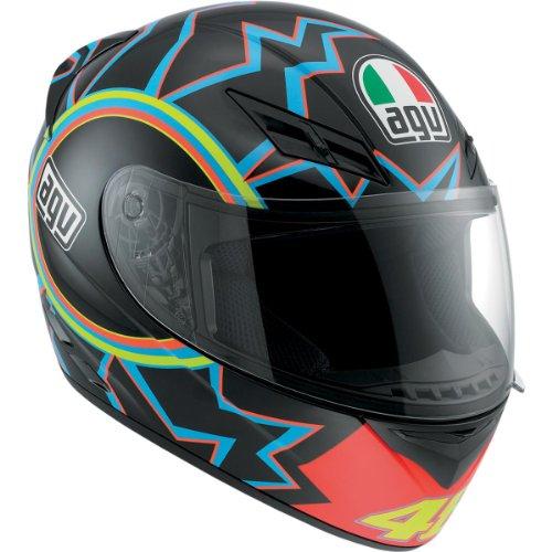 Agv K3 Helmet - 46 (large) (black/orange/blue)