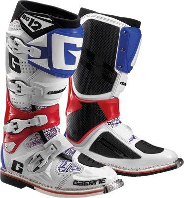 Gaerne SG-12 Boots Distinct Name RedWhiteBlue Gender MensUnisex Size 9 Primary Color White 2174-026-009