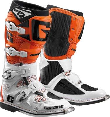 Gaerne SG-12 Boots Distinct Name WhiteOrange Gender MensUnisex Size 13 Primary Color Orange 2174-018-013