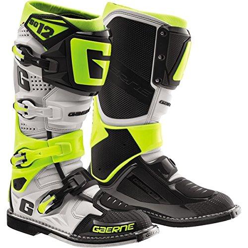 Gaerne SG-12 Boots Primary Color White Size 11 Distinct Name WhiteRedBlue Gender MensUnisex 2174-026-11