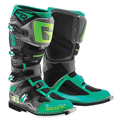 Gaerne SG-12 Mens TurquoiseLime Motocross Boots - 12