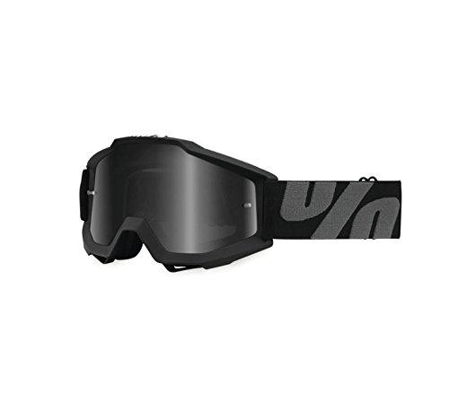 100 Accuri ATV Goggles - Superstition Black with Dark Smoke Lens