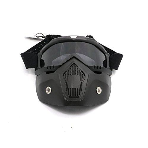 Alpha Rider Motocross Motorcycle Off-road Racing Goggles Face Cover Mask Open Face Helmet for Honda Kawasaki Suzuki Yamaha KTM Husqvarna Sinnis Black