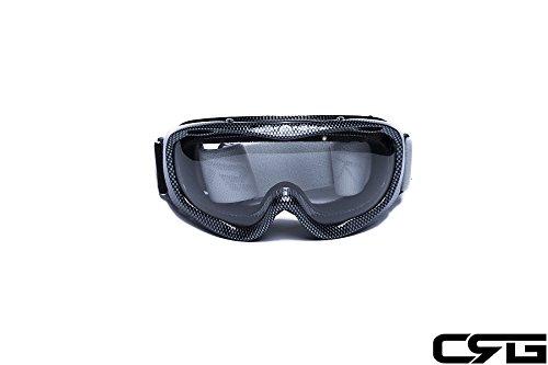 CRG Motocross ATV Dirt Bike Off Road Racing Goggles Adult T815-37 Clear