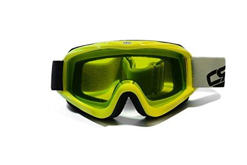 CRG Sports Motocross ATV Dirt Bike Off Road Motorcycle Racing Goggles CRG26-13 Yellow Frame