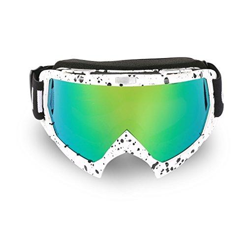 Cuzaekii MT003 Anti-fog UV400 MTB Dirt Bike ATV Motorcycle Motocross Racing Goggles Ski Snowboard Snowmobile Glasses White