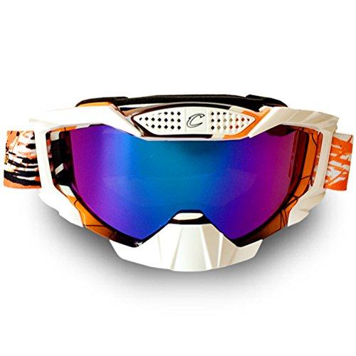 Cyclegear CG07 Motorcycle Motocross Racing Goggles Skiing Snowboarding Cycling DH Glasses Orange
