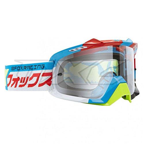 Fox Racing Goggles AIR SPACE DIVIZION Motocross Dirt Bike Red Blue