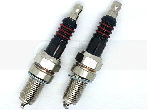 Harley Sportster Hugger XLH 883 Performance Spark Plugs Pair repl OEM 6R12