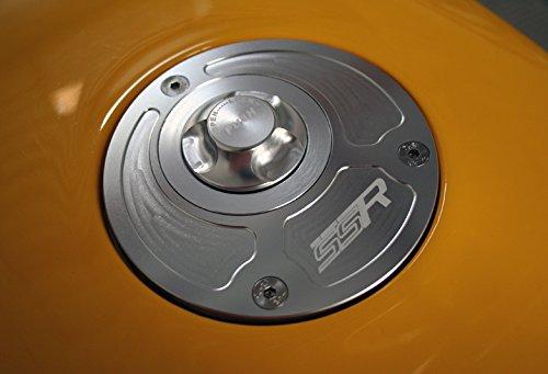 Kayo MiniGP Gas Fuel Tank Petrol Cap Cover Push Button Keyless CNC Billet Aluminum Silver