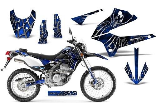 CreatorX Kawasaki Klx 250 D Tracker Graphics Kit Decals Stickers SpiderX Blue