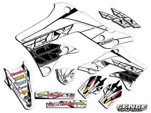 Senge Graphics 2004-2007 Kawasaki KLX 250 Fly Racing White Graphics Kit