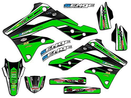 Senge Graphics 2008-2017 Kawasaki KLX 250 Vigor Green Graphics Kit