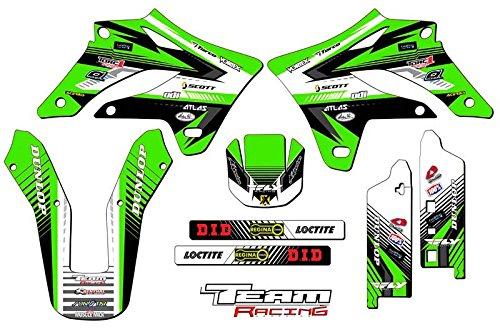 Team Racing Graphics kit for 2004-2007 Kawasaki KLX 250 ANALOG Base kit