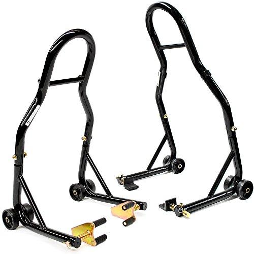 Venom Motorcycle FrontRear Paddle Wheel Lift Stand For Kawasaki Z1000 Z750 Versys