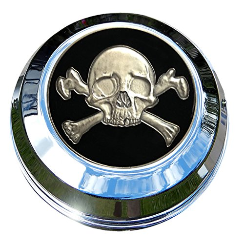 MotorDog69 Harley Gas Cap Coin Mount Set with Crossbones for Softail Dyna Road King Sportster……