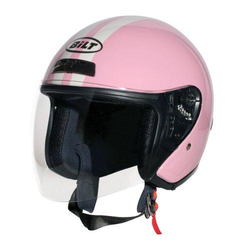 CUSTOM BILT Womens Roadster Retro Open-Face Motorcycle Helmet - XL PinkCream