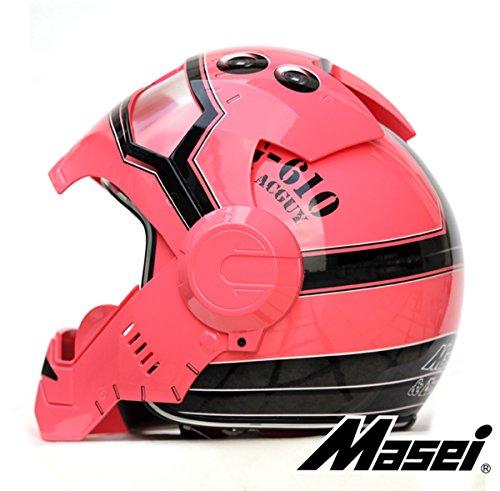 LC PrimeMasei 610 AcGuy Motorcycle Open Face Chopper wearable Helmet S M L XL plastic pink 1