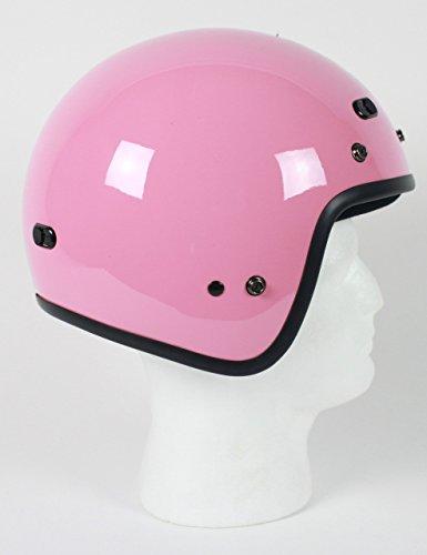 RMTP- DOT Pink 34 Open Face Motorcycle Helmet  XS