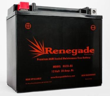 Motorcycle Battery RG20-BS Harley 1989 Softail Part 66672-96 65991-75C 65991-82A 65991-82B BTX20-BS BTX20H-BS YTX20-BS