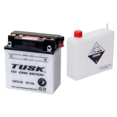 Tusk Tec-Core Battery with Acid 12N7D3B -Fits Yamaha BADGER 80 1993-2002