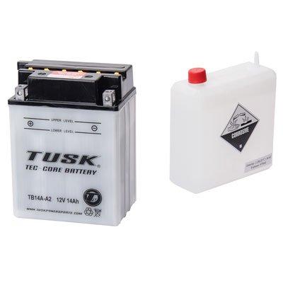 Tusk Tec-Core Battery with Acid TB14AA2 -Fits Honda ATC 200E BIG RED 1982-1984