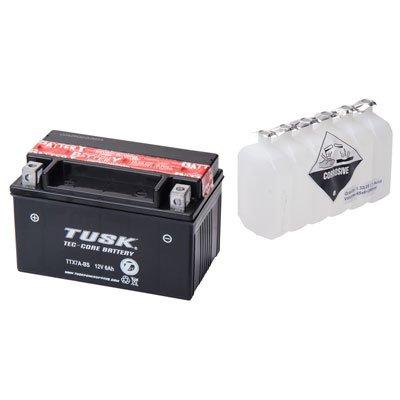 Tusk Tec-Core Battery with Acid TTX7A-BS Maintenance-Free -Fits Suzuki LT-R 450 QUADRACER 2006-2009