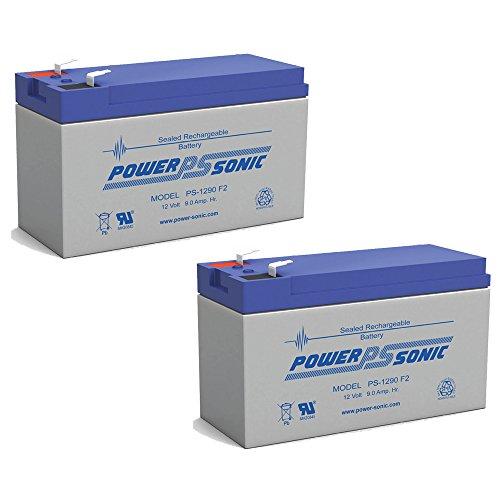 12V 9Ah PS-1265 DJW12-8 Rechargeable Sealed Lead Acid SLA Battery - 2 Pack