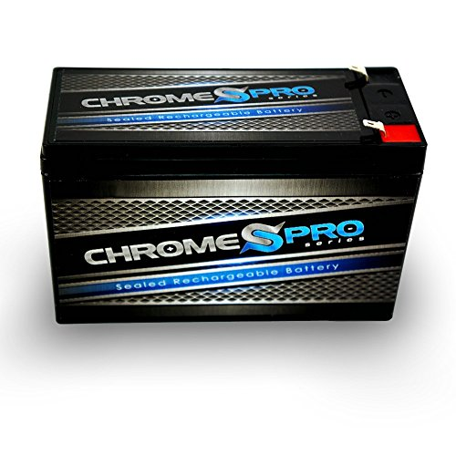Chrome Battery 12V 7 Amp AGM Rechargeable Sealed Lead Acid Battery