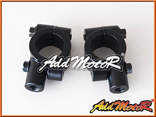 Addmotor 2X Universal Black Motorcycle Handlebar Mirror Mount 8mm 78 Aluminum Clamp