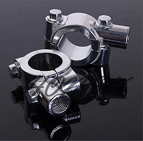 HongK- 8MM Chrome 78 22mm Motorcycle HandleBar Mirror Thread Mount Holder Clamp Adaptor