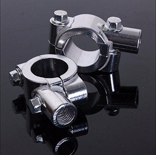SEMT- 8MM Chrome 78 22mm Motorcycle HandleBar Mirror Thread Mount Holder Clamp Adaptor
