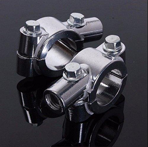 SMT MOTO- 8MM Chrome 78 22mm Motorcycle HandleBar Mirror Thread Mount Holder Clamp Adaptor