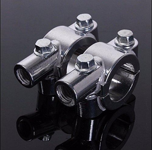 XKH Group 8MM Chrome 78 22mm Motorcycle HandleBar Mirror Thread Mount Holder Clamp Adaptor