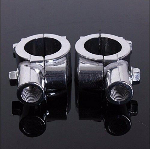 XKMT Group 8MM Chrome 78 22mm Motorcycle HandleBar Mirror Thread Mount Holder Clamp Adaptor