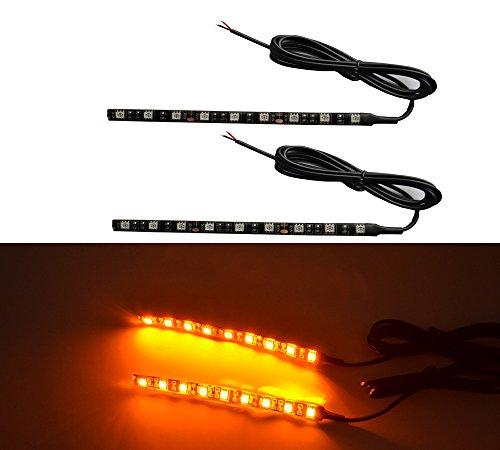 2x Universal Motorcycle Bike Amber LED Turn Signal Indicator Blinker Light 12v