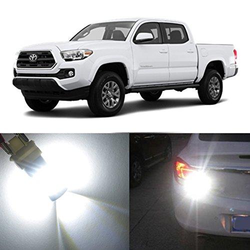 Alla Lighting 2x Super Bright 6000K White 4157NAK LED Bulbs for Front Turn Signal Blinker Light Lamps for 2001 2002 2003 2004 2005 2006 2007 2008 2009 2010 2011 2012 2013 2014 2015 Toyota Tacoma