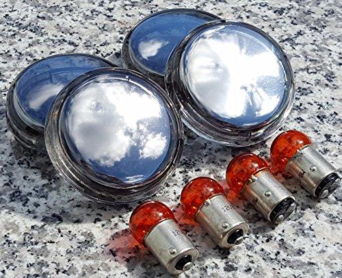 i5 FULL CHROME Turn Signal Lenses for Harley Davidson