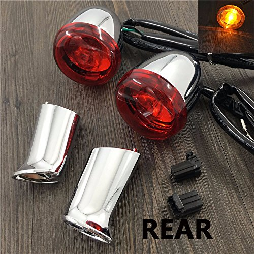 motorcycle harley Chrome Turn Signal Light with bracket For Harley Davidson 883 turn signals XL1200 Sportster lights 92-up rear