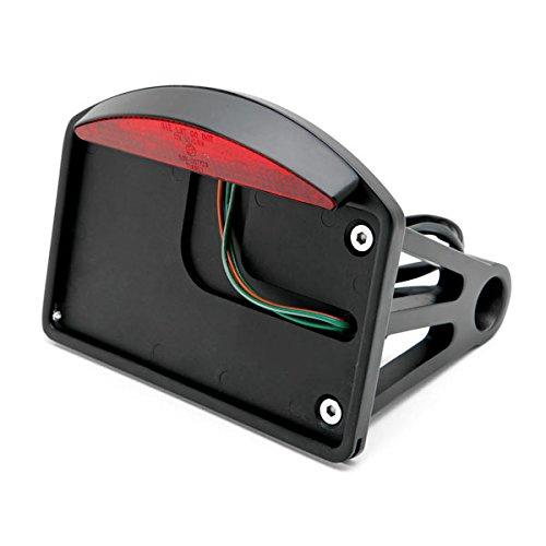 Krator Black Side Mount License Plate LED Brake Light For Harley Davidson Dyna Glide Fat Bob Street Bob