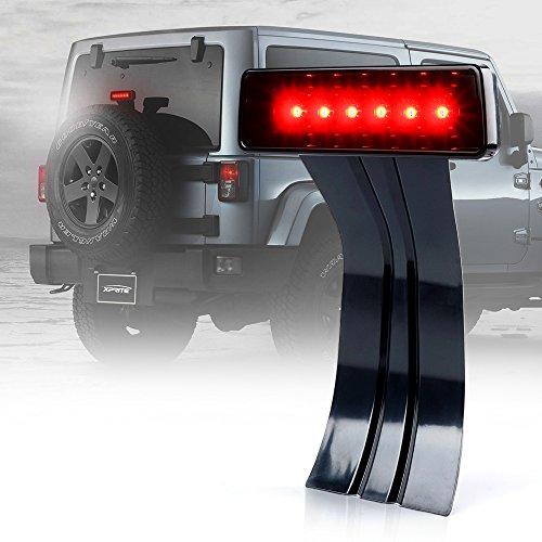 Xprite Smoke Lens 2007 - 2017 Jeep Wrangler Wrangler Unlimited JK LED Third Brake Lights Tail Lights