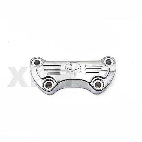 XKH Group 1 Scalloped Handlebar Riser Clamp Chrome For Harley Sportster 1200 Low Rider