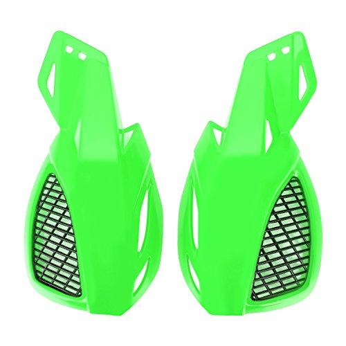 CICMOD 2Pcs 22mm ATV Dirt Bike Motorcycle Handlebar Hand Guard Hand guard Protector Green